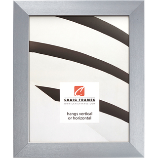 """Modern Aesthetics 125 1.25"""", Brushed Silver Picture Frame"""