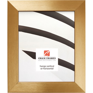 """Modern Aesthetics 150 1.5"""", Brushed Gold Picture Frame"""