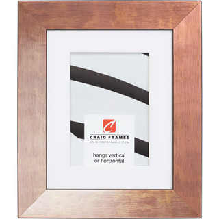 """Milano 150 1.5"""", Rose Gold Matted Picture Frame"""