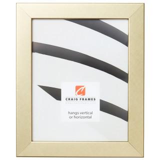 "Bauhaus 125 1.25"", Swirled Gold Picture Frame"