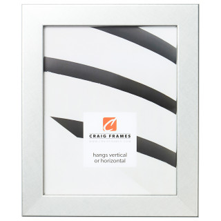 "Bauhaus 125 1.25"", Brushed Silver Picture Frame"