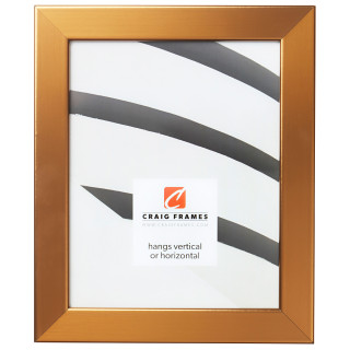 "Bauhaus 125 1.25"", Stainless Brass Picture Frame"