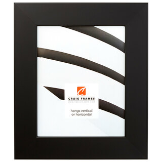 "Bauhaus 200 2"", Black Satin Mica Picture Frame"