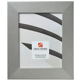 "Bauhaus 200 2"", Brushed Silver Picture Frame"
