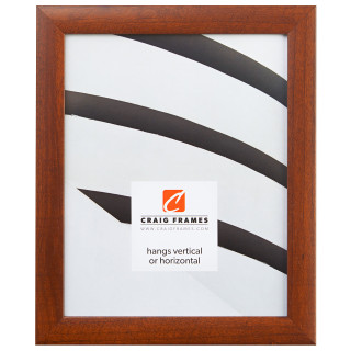 """Contemporary 1"""", Honey Brown Picture Frame"""