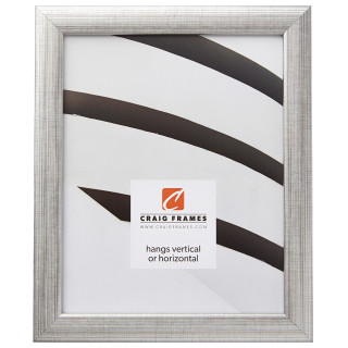 """Contemporary 1"""", Scratched Silver Picture Frame"""