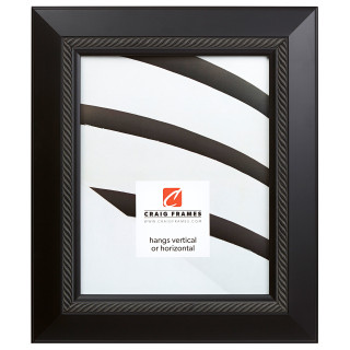 "Contemporary Rope 2"", Satin Black Picture Frame"