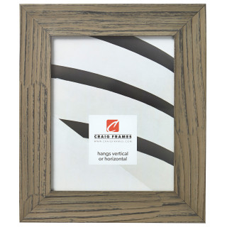 """Hausbarn XL 2"""", Rustic Wolf Gray Picture Frame"""
