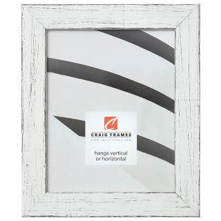 """Jasper 1.5"""", Marshmallow Weathered Picture Frame"""