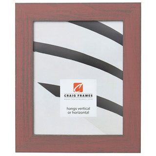 """Jasper 1.5"""", Faded Red Weathered Picture Frame"""