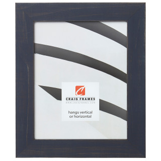 "Jasper 1.5"", Weathered Blue Picture Frame"