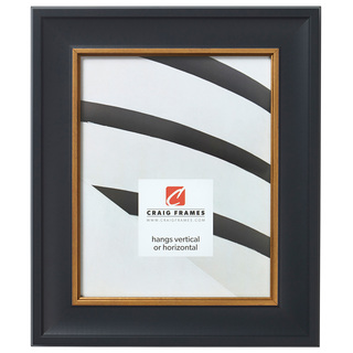 """Martin 2"""", Black Velvet Gold Picture Frame"""