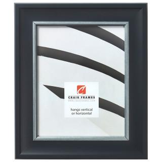 """Martin 2"""", Black Velvet Silver Picture Frame"""