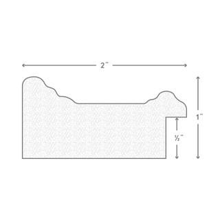 18x36 Inch Satin White Picture Frame 262671836 Craig Frames Bauhaus 1.25 Wide