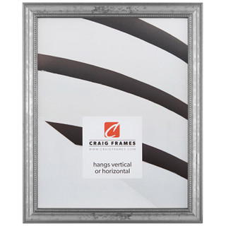 """Stratton .75"""", Aged Silver Picture Frame"""