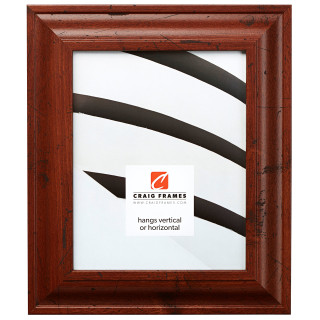 """Upscale 2"""", Rustic Dark Walnut Picture Frame"""