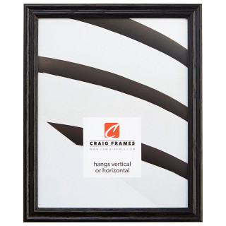 Affordable 8 x 10 ash black hardwood picture frame.