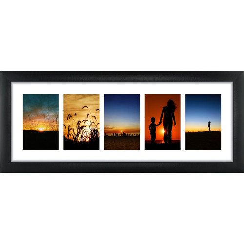 5 Opening 4x6 Panoramic Collage Frame With 1 Mat Craig Frames