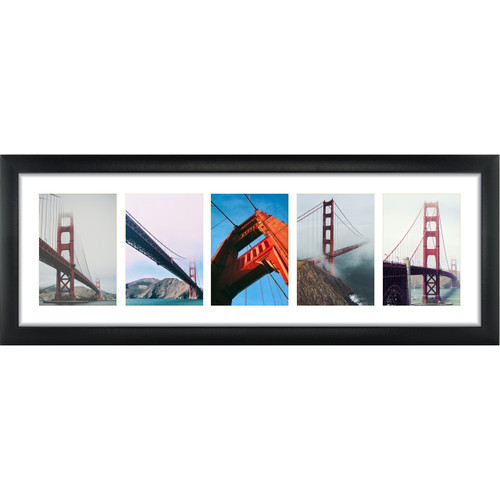 5 Opening 5x7 Panoramic Collage Frame With 1 Mat Craig Frames