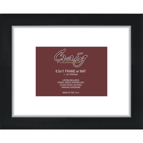 """Matted Picture Frame, With 5x7 Opening and 2"""" Border"""