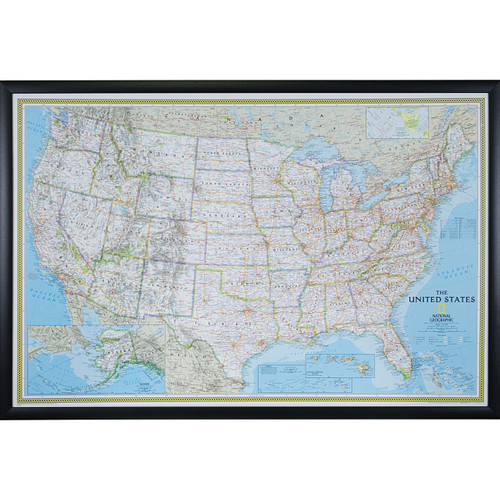 Wayfarer Classic USA Push Pin Travel Map - Craig Frames