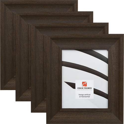 """Driftwood 25 2.5"""", Weathered Black Picture Frames - 4 Piece Set"""