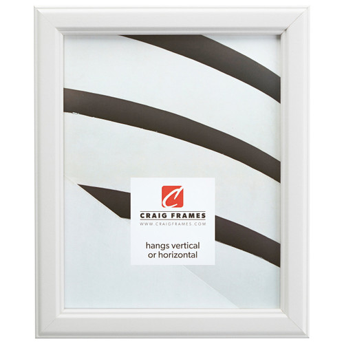 """Tulip Poplar 1"""", Traditional White Picture Frame"""
