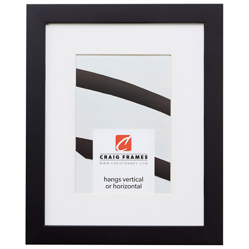 "Confetti .875"", Matted Black Picture Frame"