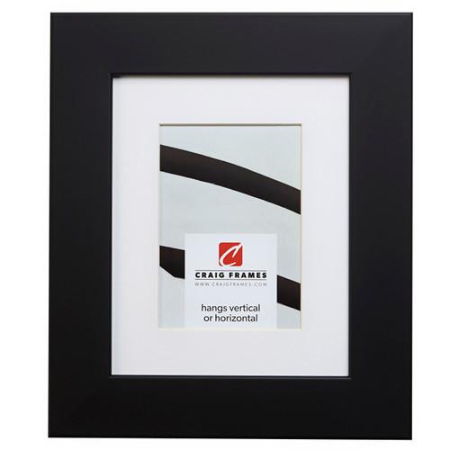"""Bauhaus 200 2"""", Matted Black Satin Mica Picture Frame"""