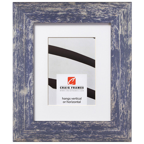 """American Barn 2"""", Matted Independence Blue Picture Frame"""