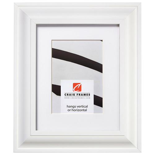 """Upscale 2"""", Matted White Satin Mica Picture Frame"""