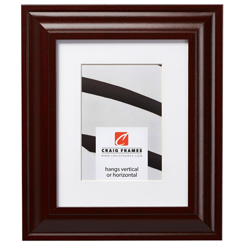 """Upscale 2"""", Matted Dark Mahogany Picture Frame"""