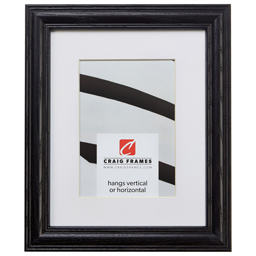 """Wiltshire 440 1.25"""", Matted Ebony Picture Frame"""