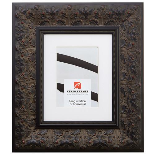 "Borromini 3.5"", Matted Black Walnut Picture Frame"