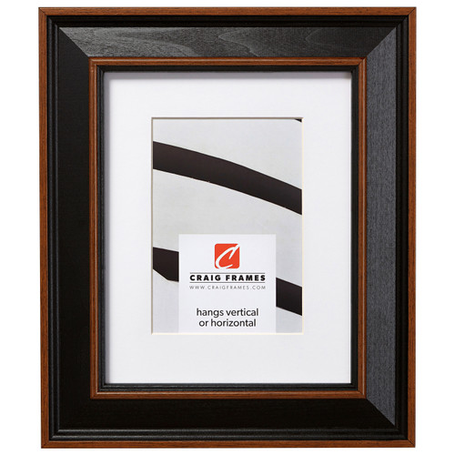 """Country Estate 2"""", Matted Black Hardwood Picture Frame"""