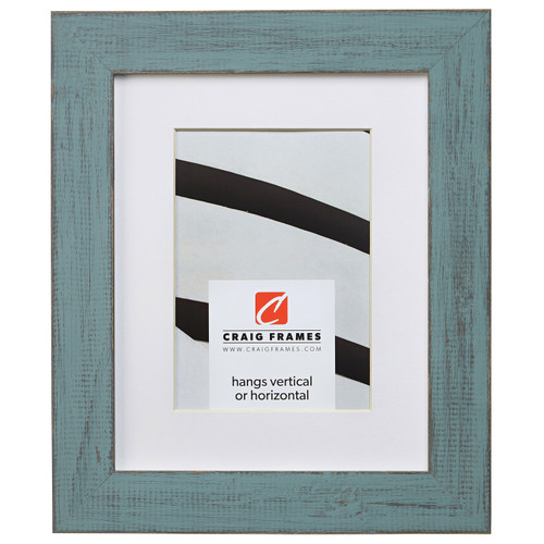 """Jasper 1.5"""", Country Dixie Grey Matted Picture Frame"""