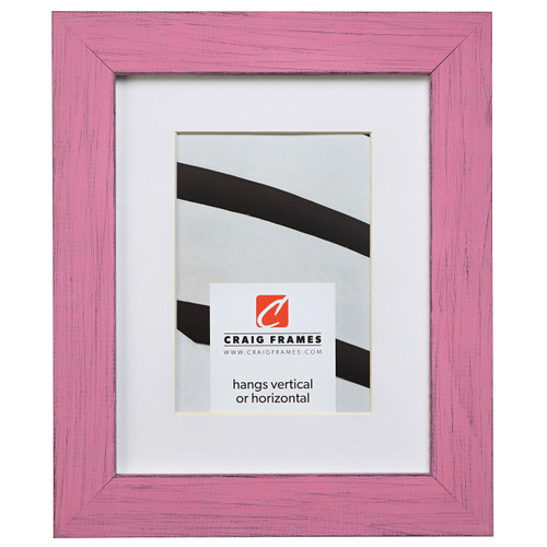 """Jasper 1.5"""", Country Petticoat Pink Matted Picture Frame"""