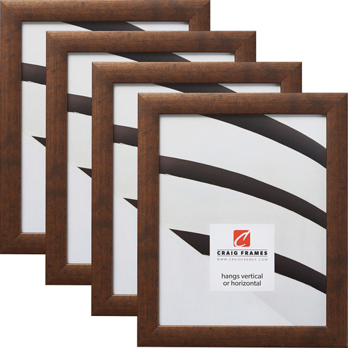 "Contemporary 1"", Rustic Copper Picture Frames - 4 Piece Set"