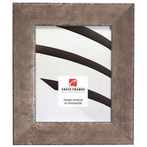 """Patina 225 2.25"""", Distressed Silver and Black Picture Frame"""