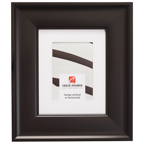 """Resilience Wide 3"""", Matted Black Picture Frame"""