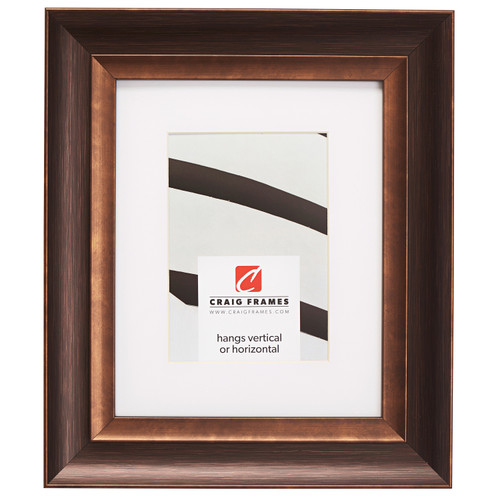 """Ventura 2"""", Matted Brushed Bronze Picture Frame"""