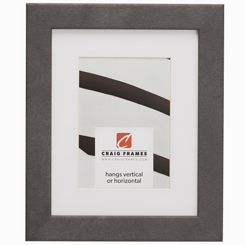 """Bauhaus 125 1.25"""", Matted Concrete Grey Picture Frame"""