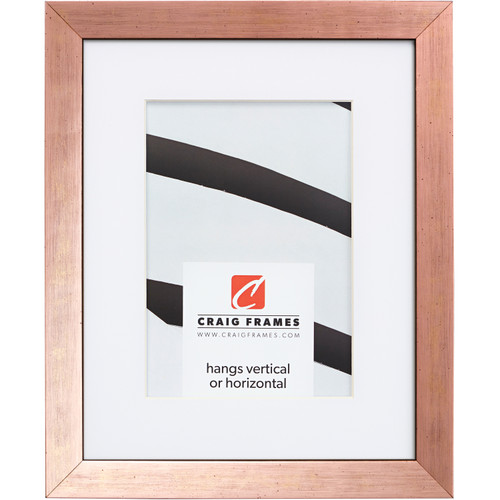 """Milano .75"""", Rose Gold Matted Picture Frame"""