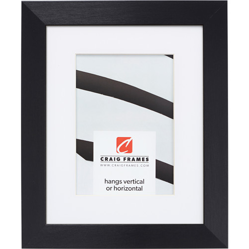 """Modern Aesthetics 125 1.25"""", Brushed Black Matted Picture Frame"""