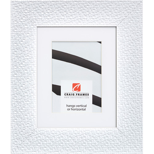 """Glimmer 2.375"""", White Matted Picture Frame"""
