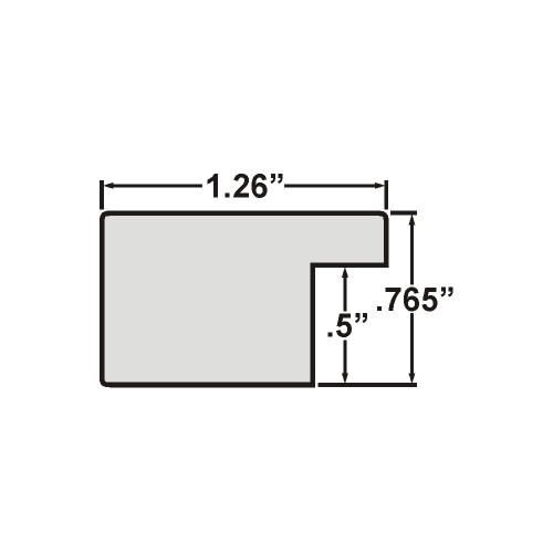 12x12 Inch Modern Black Pine Rustic Picture Frame 260091212 Bauhaus 1.25 Wide Craig Frames