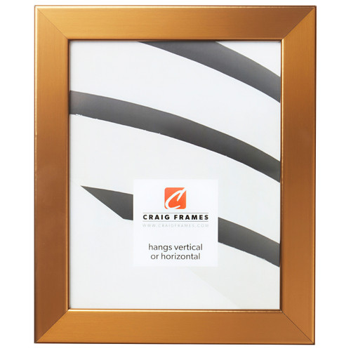 """Bauhaus 125 1.25"""", Stainless Brass Picture Frame"""