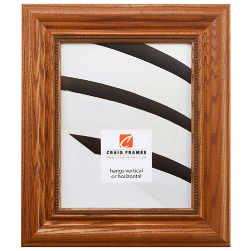 """Colonial Ornate 2.25"""", Honey Brown Picture Frame"""
