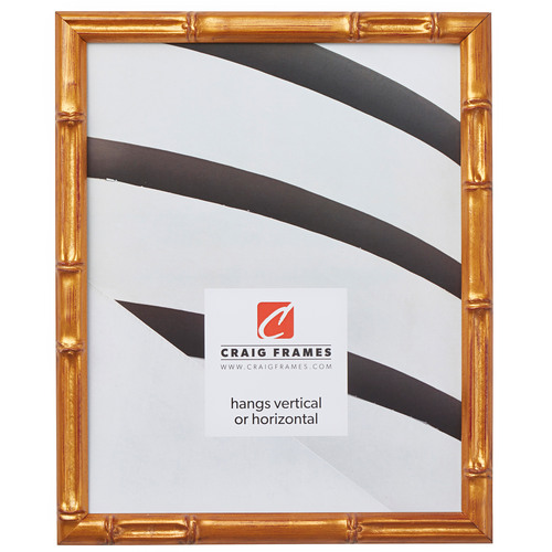 "Vintage Bamboo .625"", Brushed Gold Picture Frame"