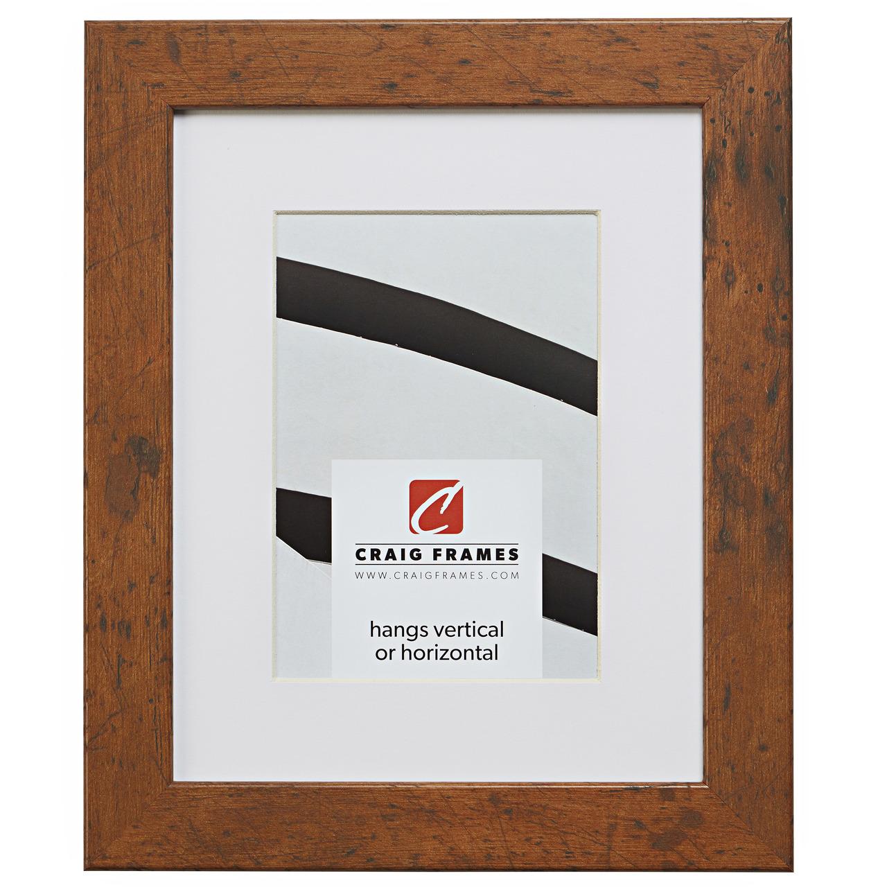"Craig Frames Bauhaus 1.25/"" Modern Rustic Light Walnut Brown Picture Frame"